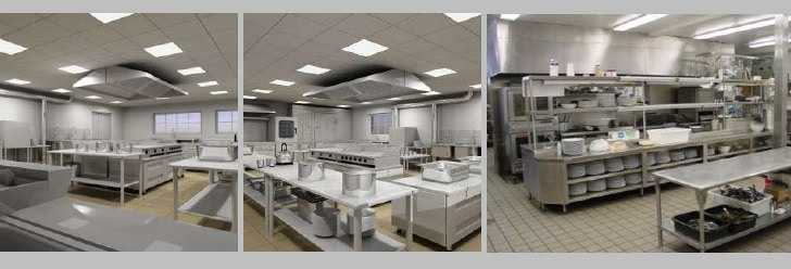 Various Section of Hotel Kitchen