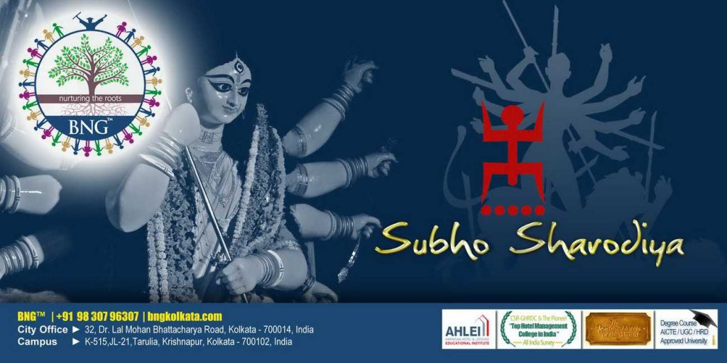 Wishing you lots of good luck and cheer on this Durga Puja !! BNG Hotel Management Kolkata