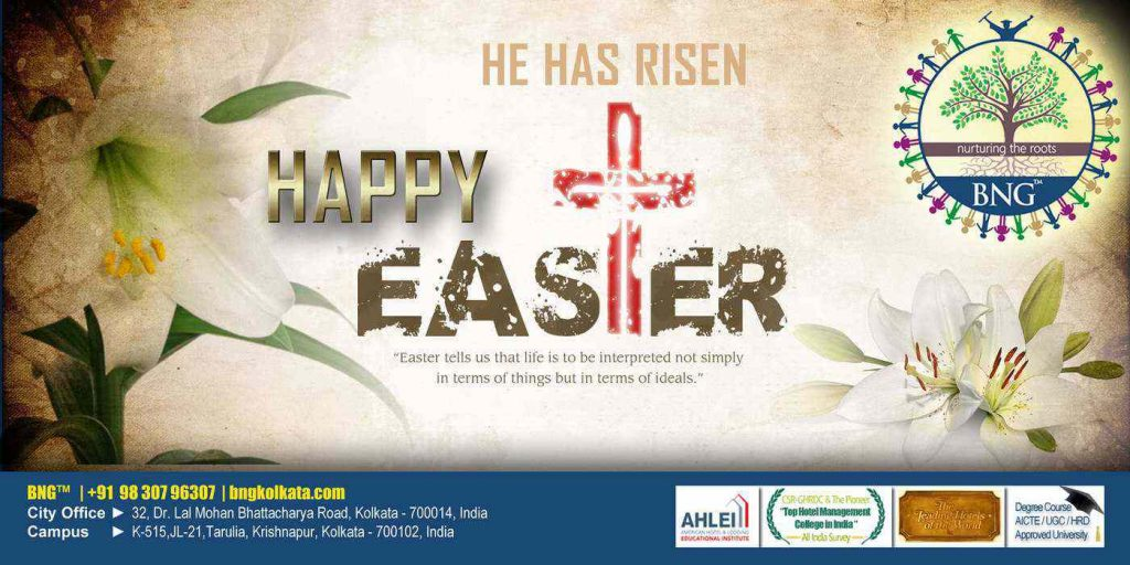 Wishing you lots of good luck and cheer on this Easter, BNG Hotel Management Kolkata