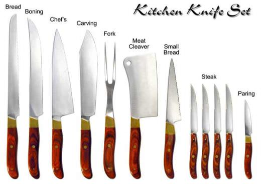 kitchen Equipment knives