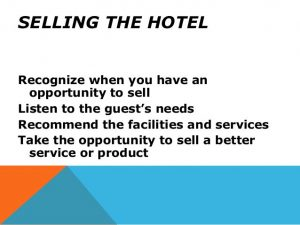 Selling Techniques - for Hotel