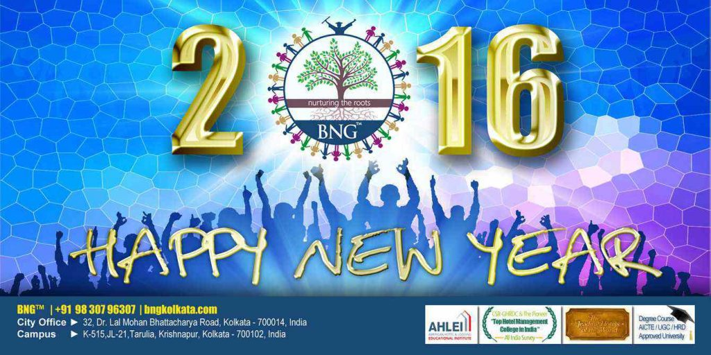 Wishing you lots of good luck and cheer on this New Year !! BNG Hotel Management Kolkata