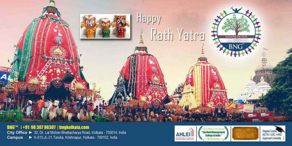 Wishing you lots of good luck and cheer on this Happy Ratha Yatra !! BNG Hotel Management Kolkata...