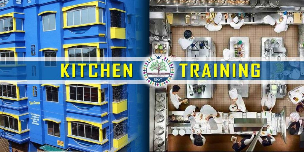 kitchen training at BNG Hotel management kolkata