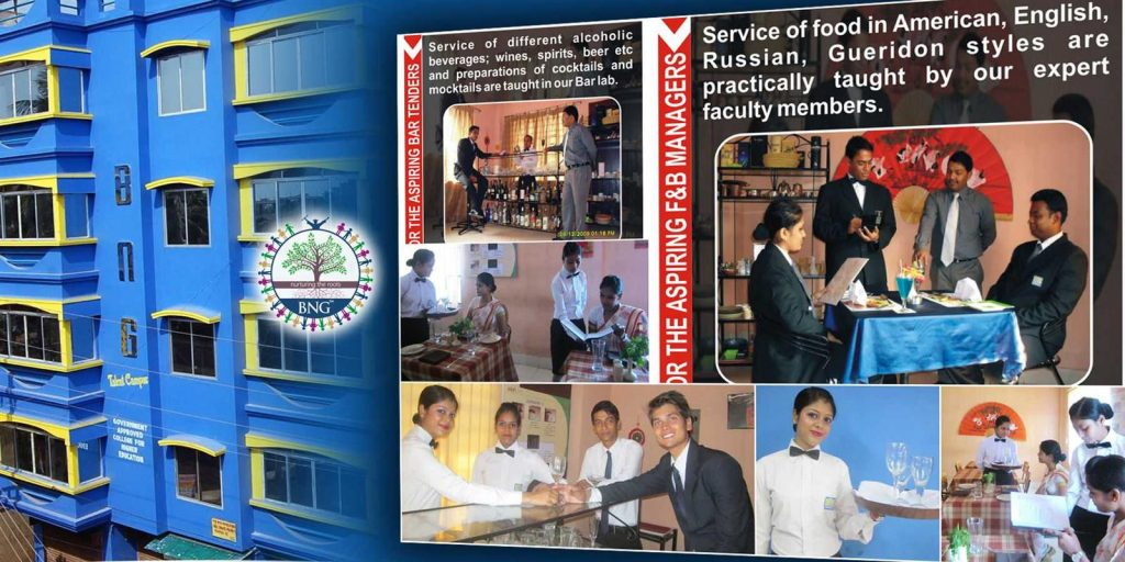restaurant training at BNG Hotel management kolkata