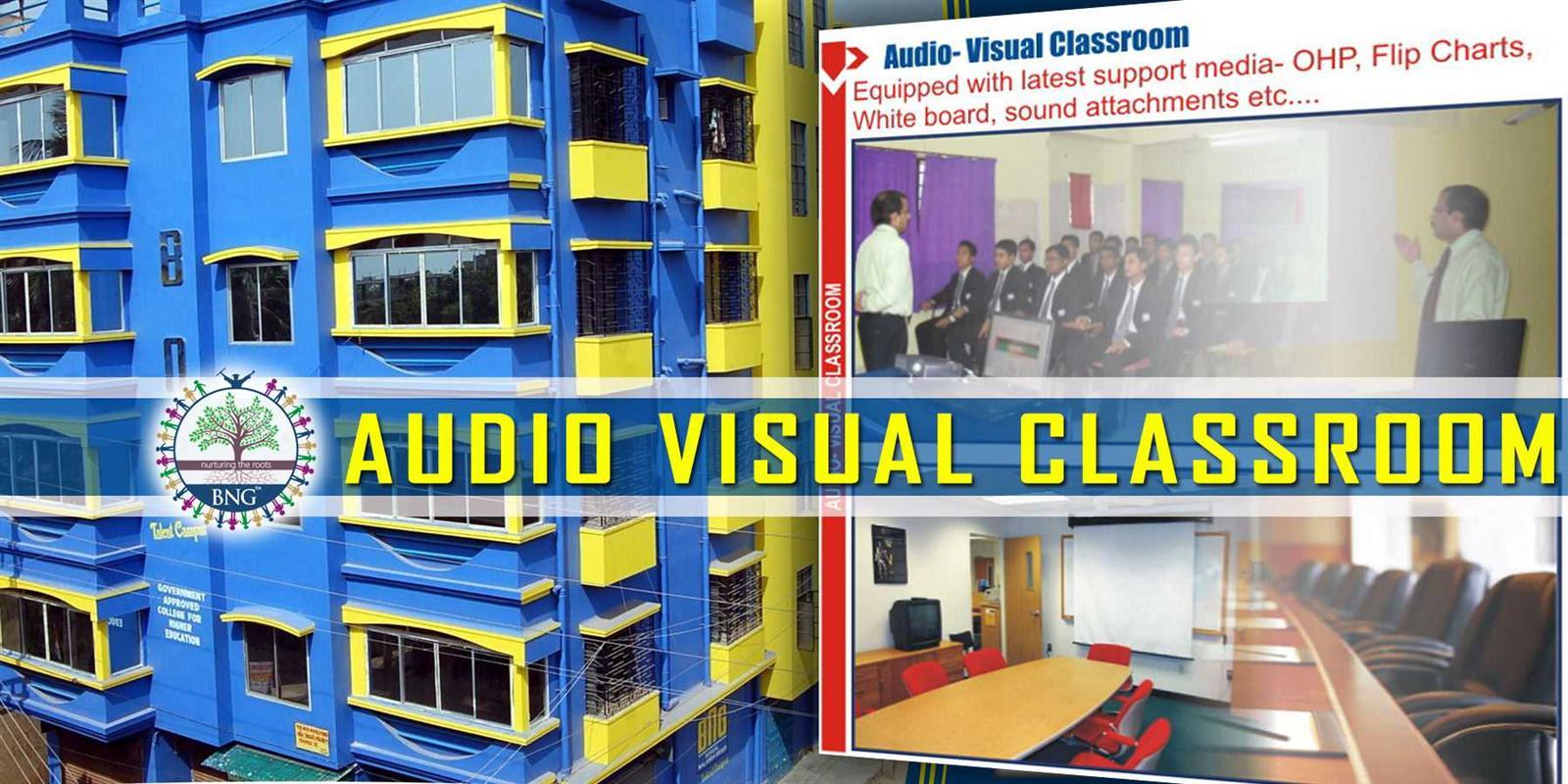 audio visual classroom of BNG Hotel management kolkata