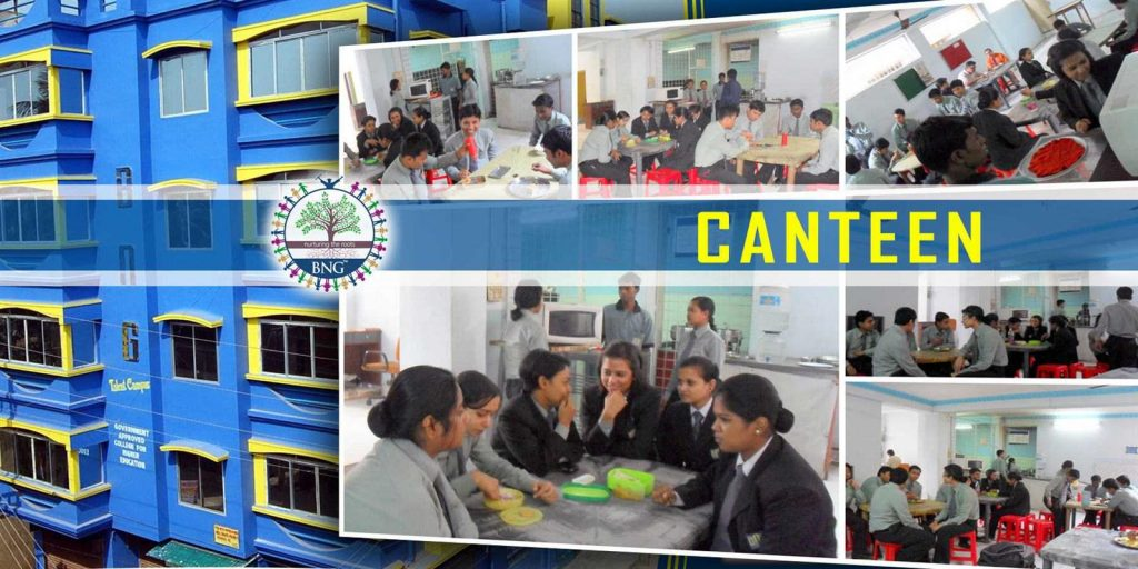 hotel management student canteen of BNG Hotel management kolkata