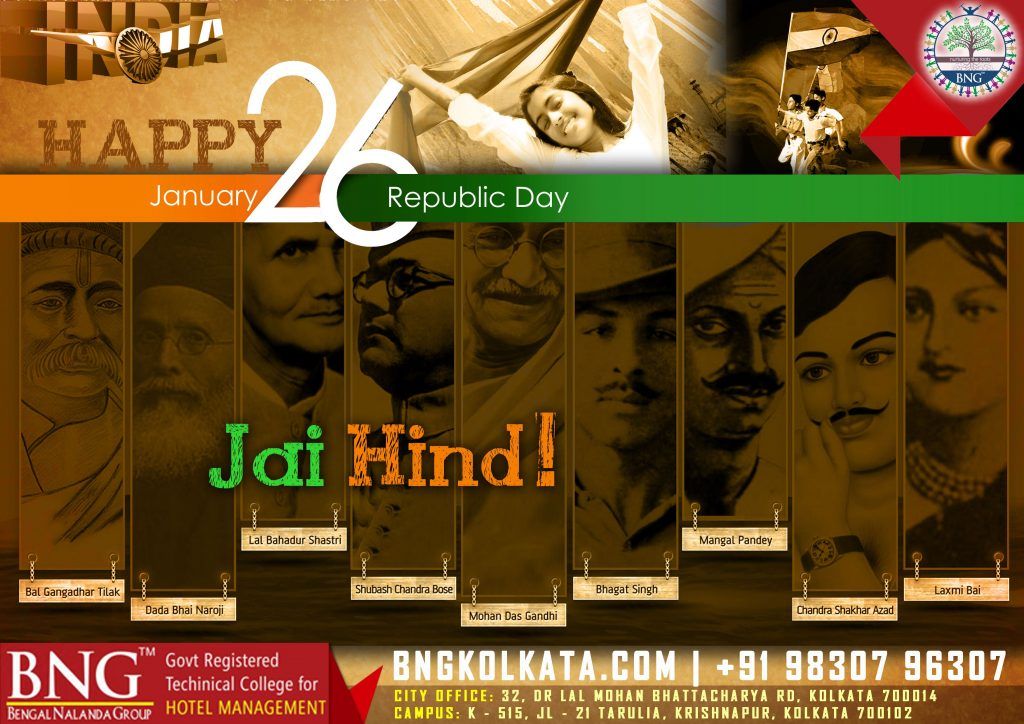 Indian Republic Day 26th January by BNG Hotel Management Kolkata