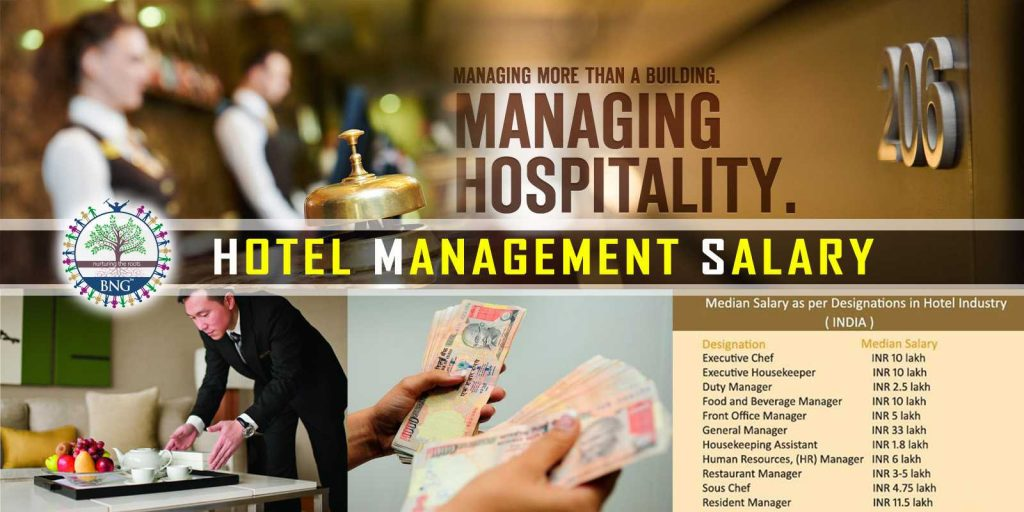 hotel management salary in india by BNG hotel management Kolkata