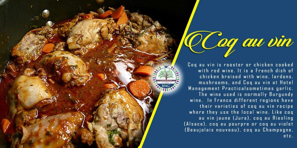 coq au vin recipe by BNG Hotel Management Kolkatabng