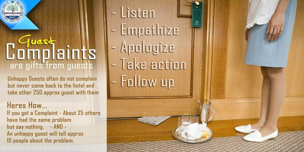 Hotel Guest Complaints in the Hotel industry and Tips on how to handle Guest Complaints