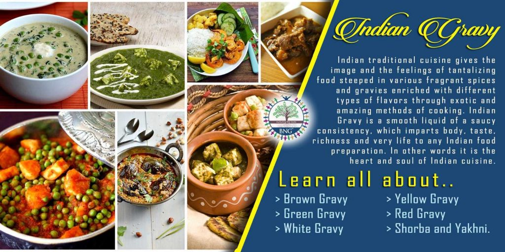 Basic Indian Gravy Recipes by BNG Hotel Management Kolkata