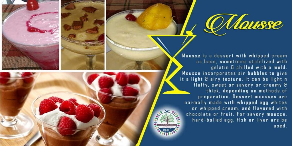 mousse recipe by BNG Hotel Management Kolkata