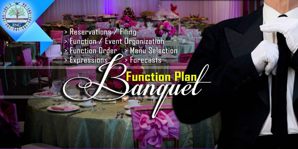 banquet function plan by BNG Hotel Management Kolkata