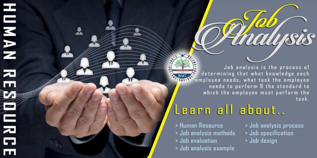 Human Resource Job analysis by BNG Hotel Management Kolkata