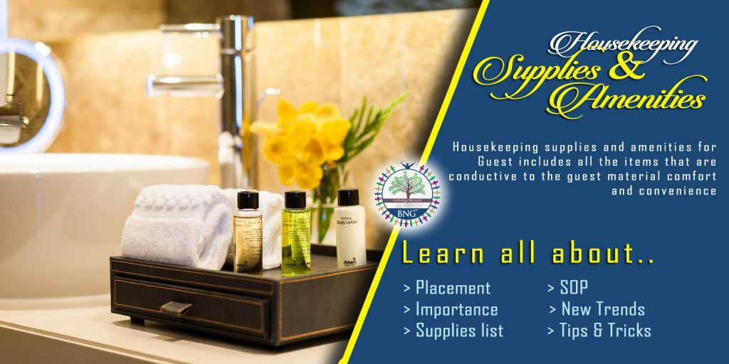 Housekeeping Supplies and Amenities by BNG Hotel Management Kolkata