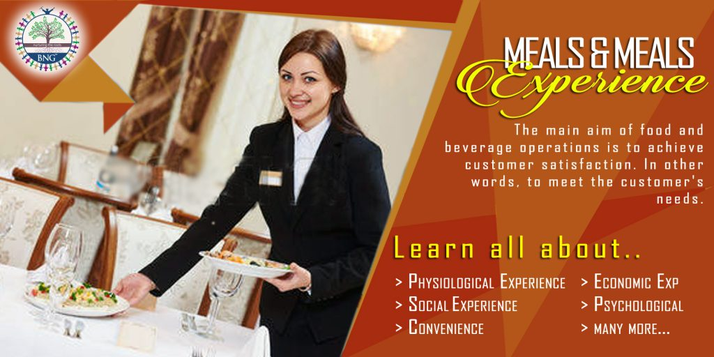 Meal and Meals Experience by bng hotel management kolkata