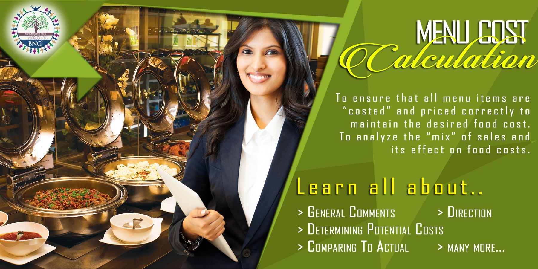 Hotel Restaurant Menu Cost Calculation by BNG Hotel Management Kolkata