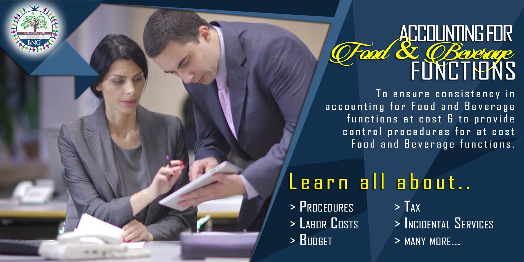 Accounting for Food and Beverage functions by BNG Hotel Management Kolkata