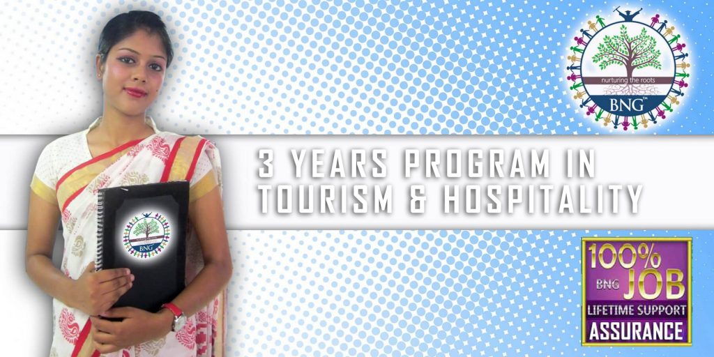3 years program in tourism and hospitality Diploma in Hotel Management with job assuarance