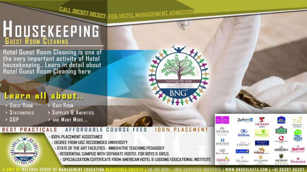 hotel guest room cleaning by BNG Hotel Management Kolkata