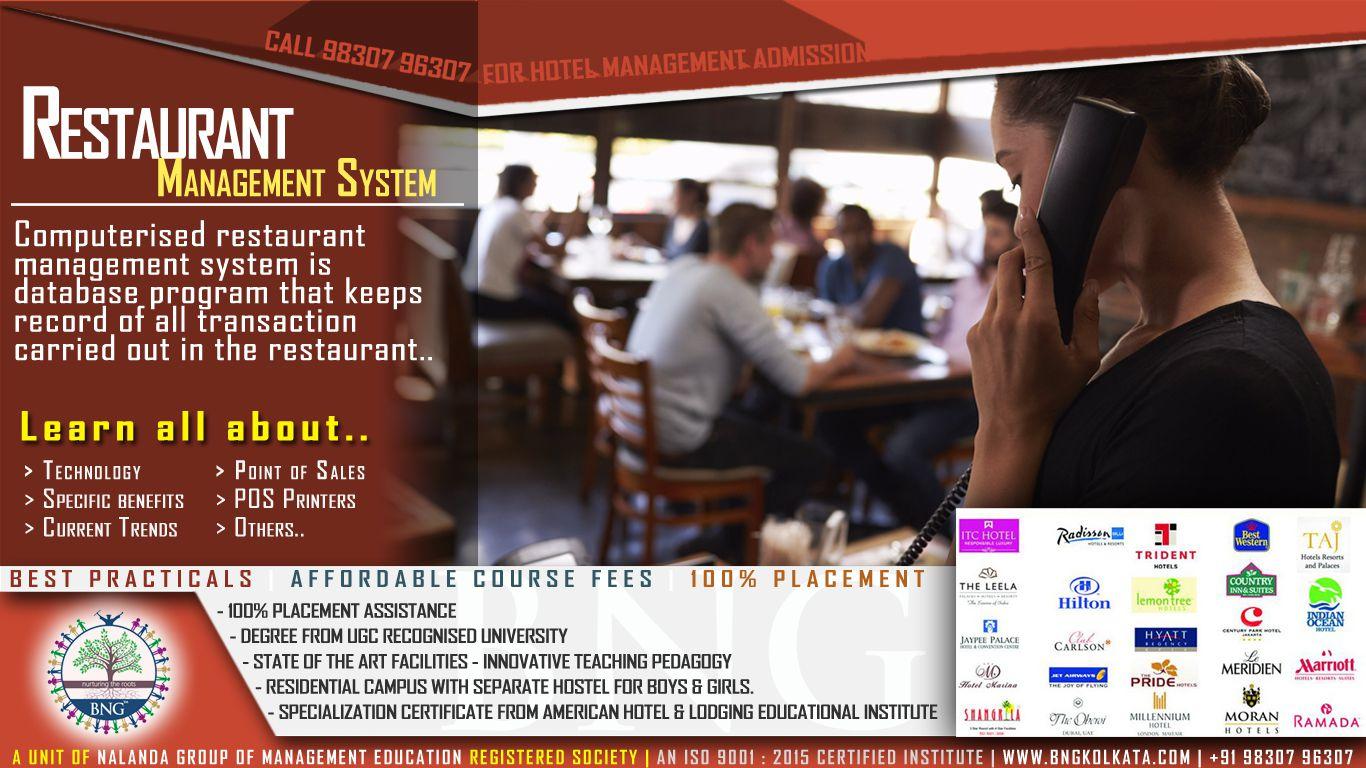 Restaurant Management System » BNG Hotel Management Kolkata