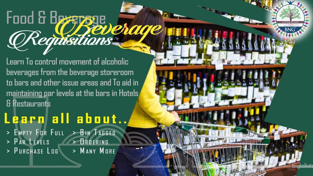 beverage-requisitions by bng hotel management kolkata