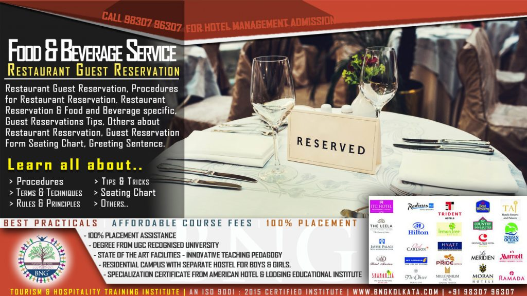 Restaurant Guest Reservation by BNG Hotel Management Kolkata