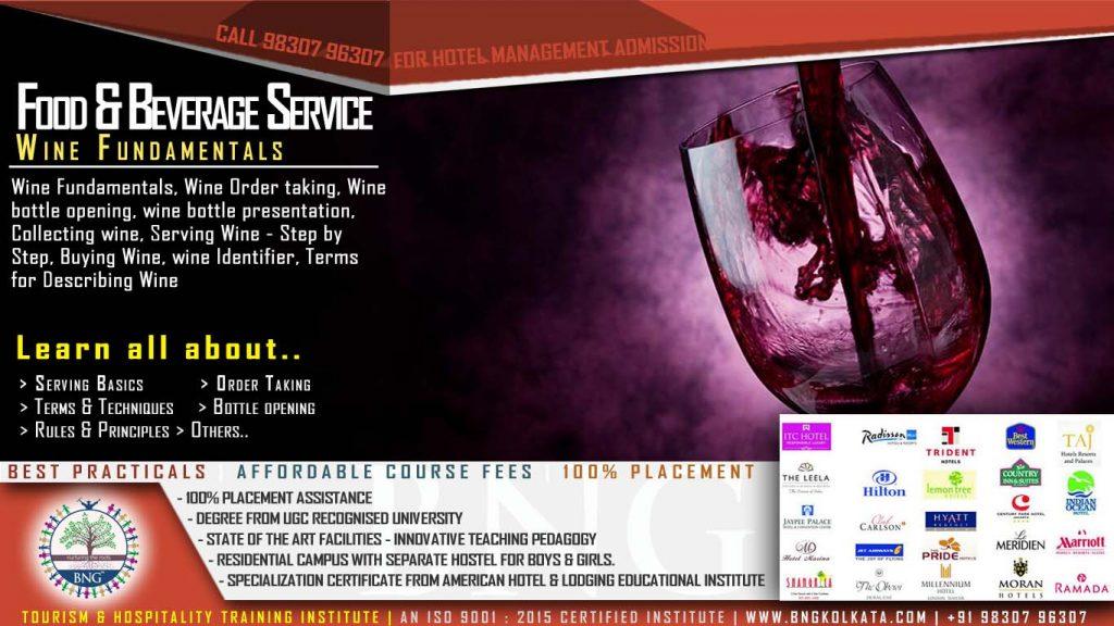 wine fundamentals by BNG Hotel Management Kolkata