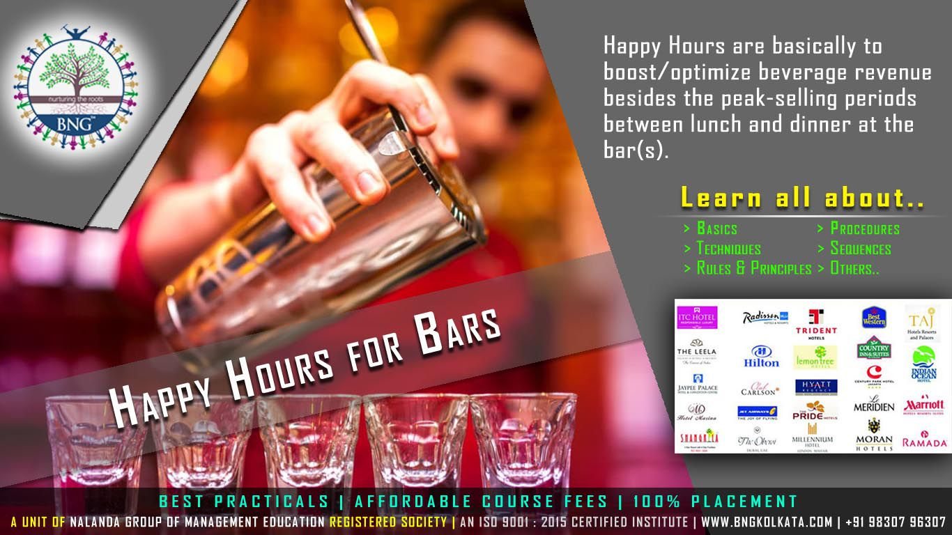 Happy Hours for Bars by BNG Hotel Management Kolkata