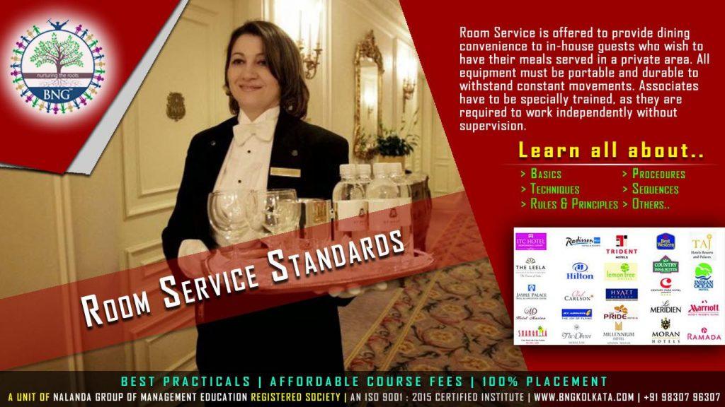 Room Service Standards by BNG Hotel Management Kolkata