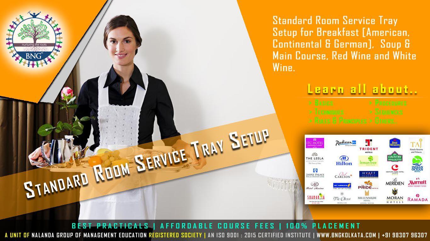 Standard Room Service Tray Setup by BNG Hotel Management Kolkata