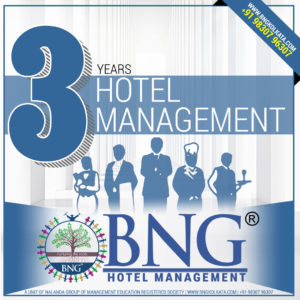 Hotel Management 3 Years Program with 100% Placement Assistance, Best Practicals, Affordable course fees in Installment Call 9830796307