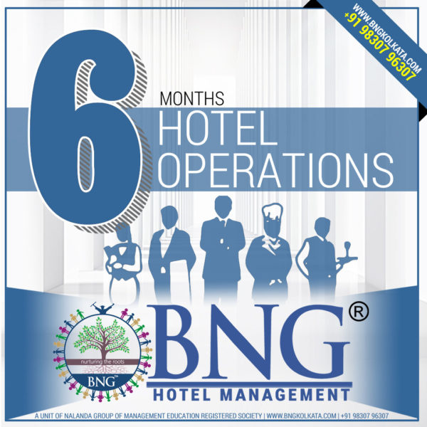 Hotel Operations 6 Months Program with 100% Placement Assistance, Best Practicals, Affordable course fees in Installment Call 9830796307