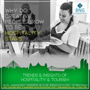 Why do CREATIVE PEOPLE grow to be hospitality stars